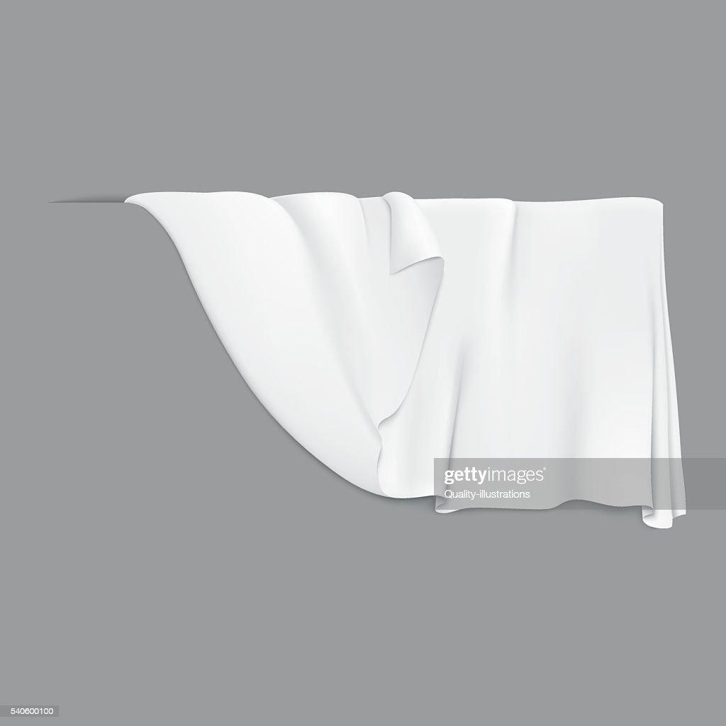White hanging cloth.