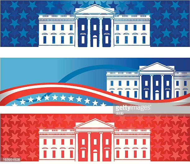 white house banners - white house washington dc stock illustrations, clip art, cartoons, & icons