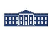 White House Federal Building Logo Illustration