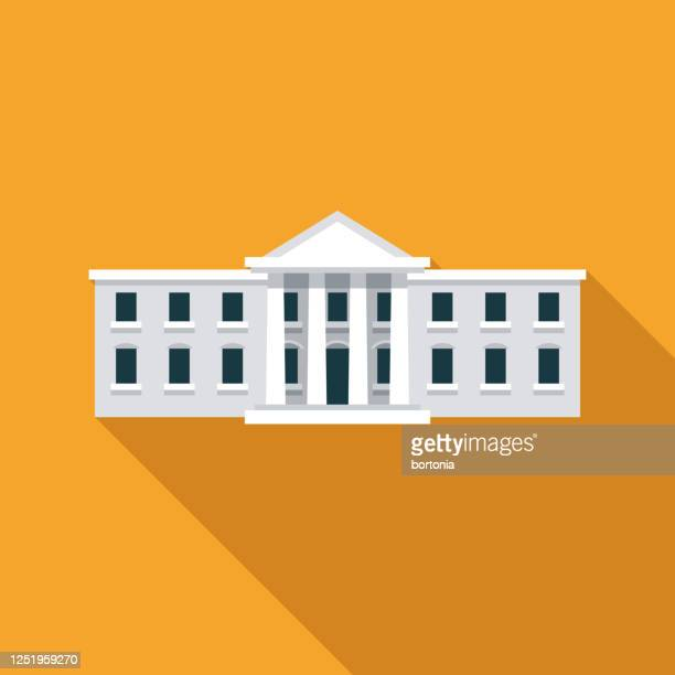 white house us election icon - government building stock illustrations