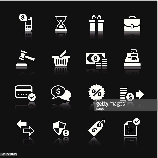 White Icons Set | Banking & Finance