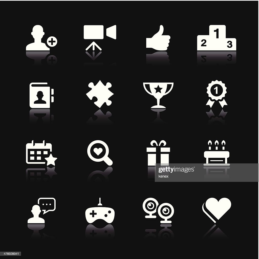 White Icons Set | Social Media