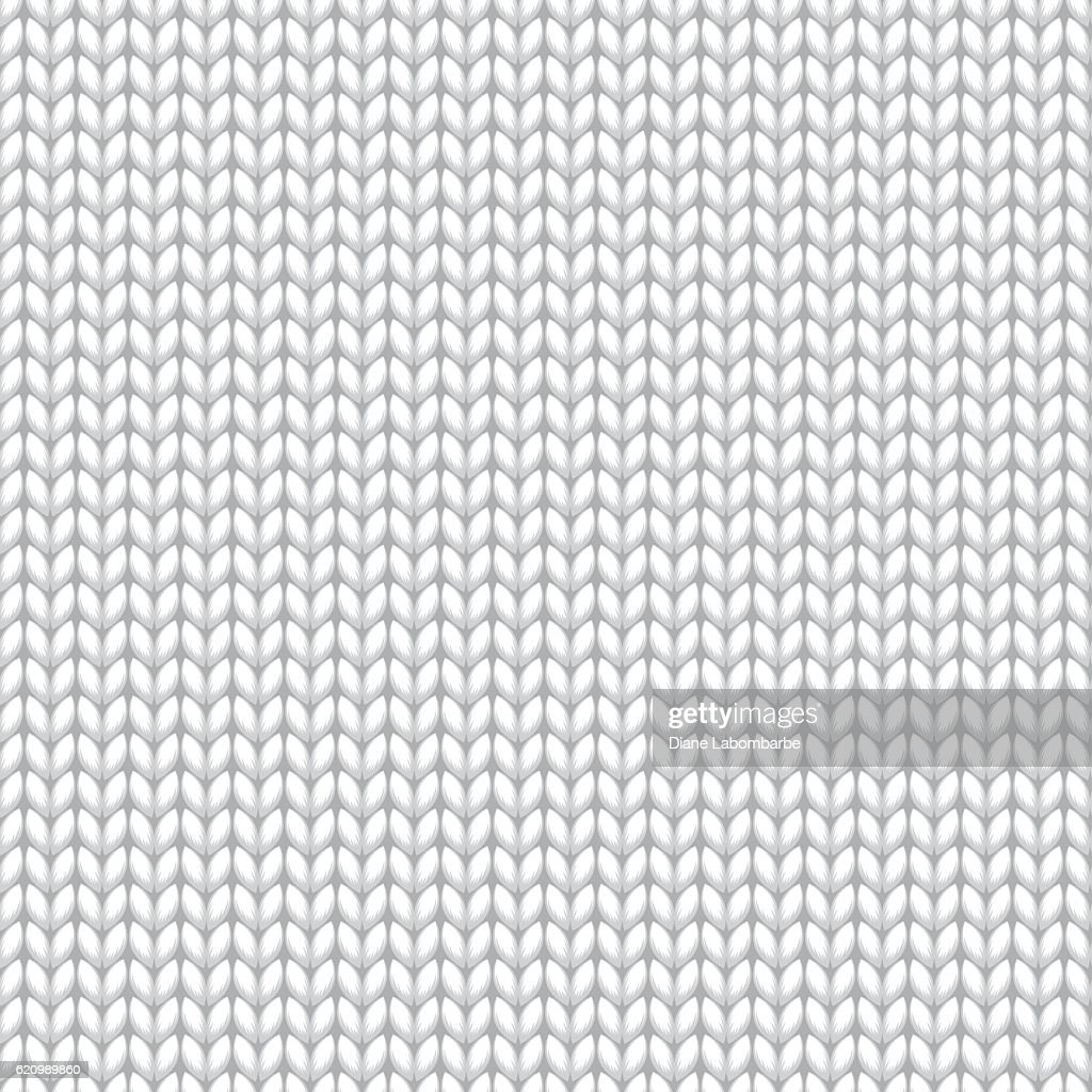 White Knitted Sweater Material Seamless Pattern