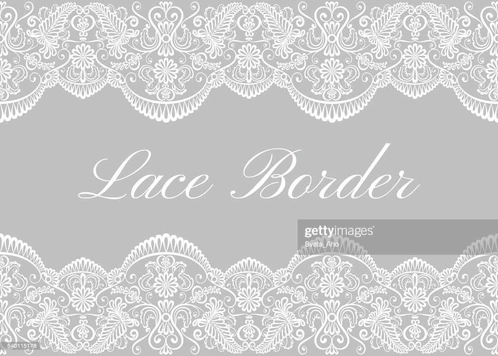 White lace borders