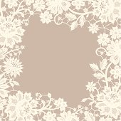 White Lace frame. Foursquare Greeting Card.