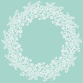 White lace frame