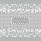 White lace pattern