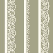 White Lace. vertical Seamless Pattern.