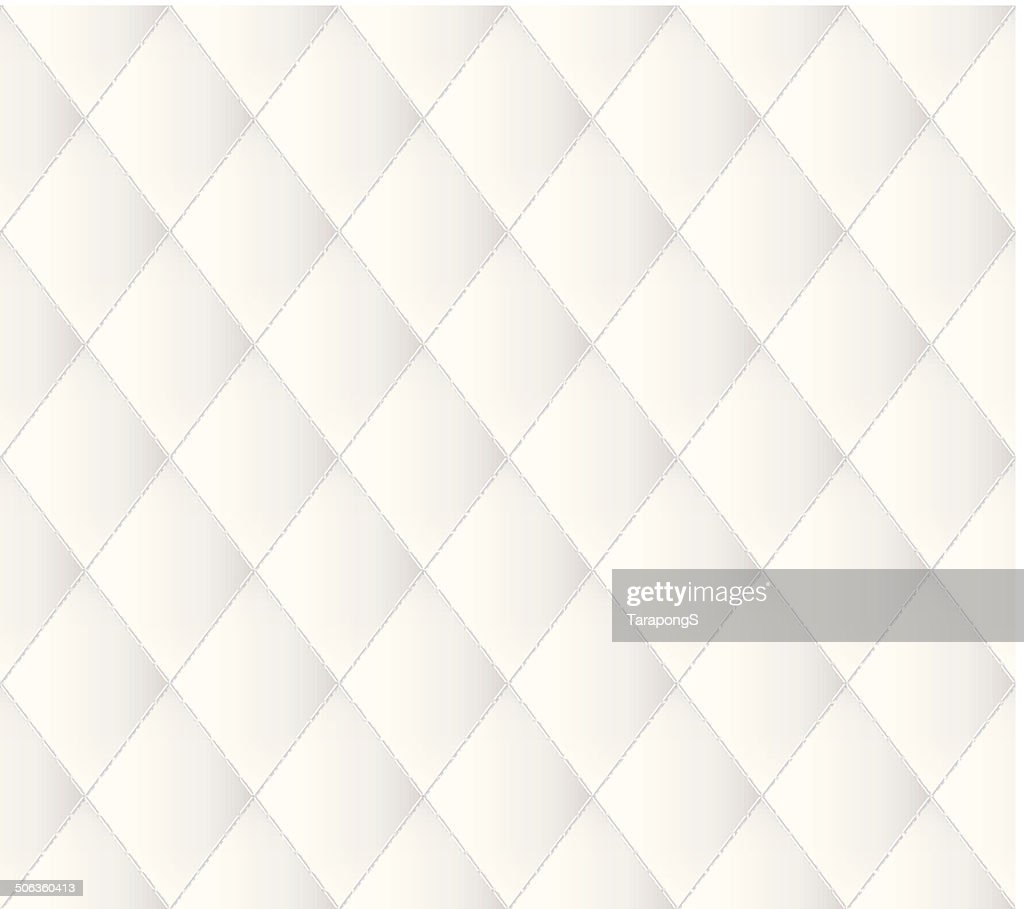 White leather upholstery pattern.