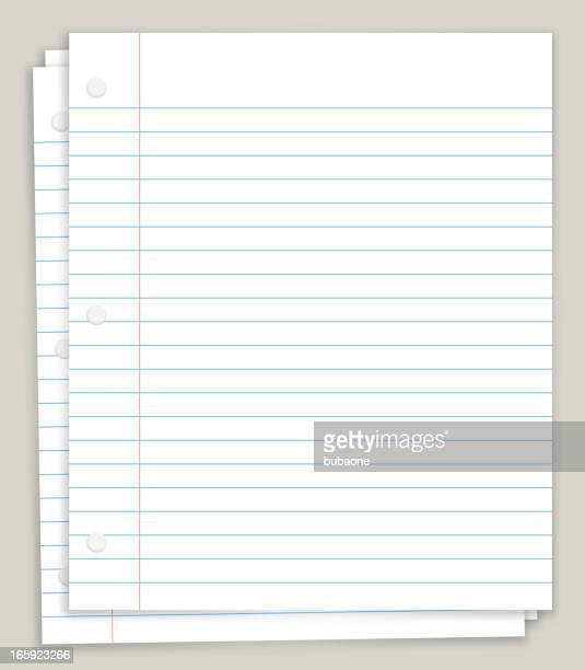 White Looseleaf Paper