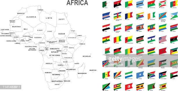 ilustrações, clipart, desenhos animados e ícones de mapa branco de áfrica com a bandeira de encontro ao fundo branco - ethiopia