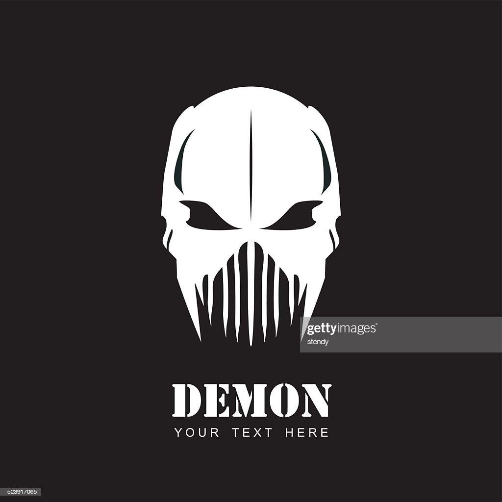 White Mask. Alien.Demon. Predator. Artwork.
