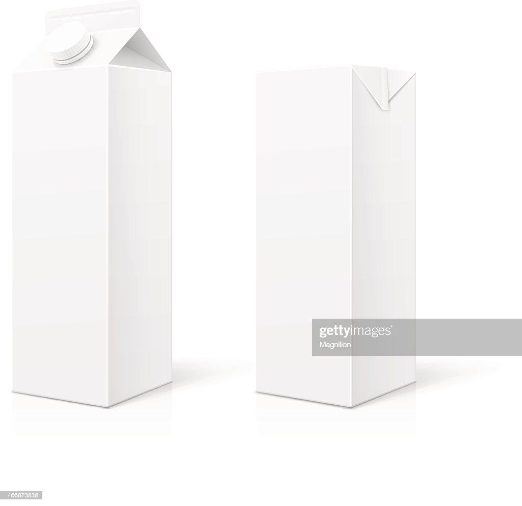 White Milk or Juice Package : stock illustration