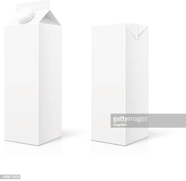 white milk or juice package - juice drink stock illustrations, clip art, cartoons, & icons