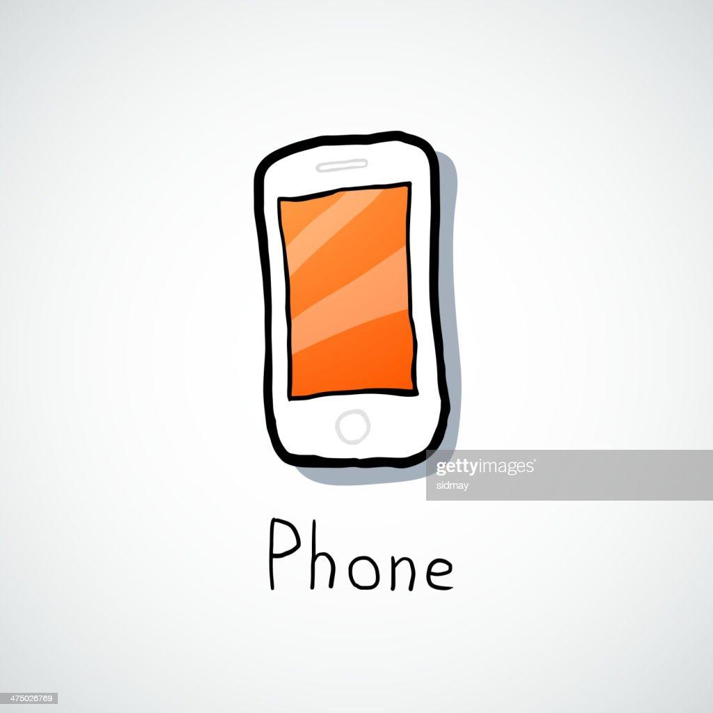 White mobile phone