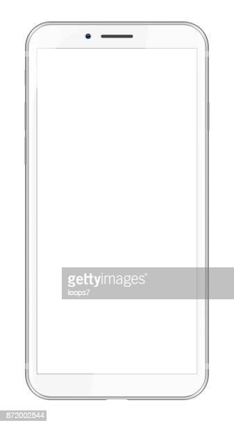 white modern smartphone - smart phone stock illustrations