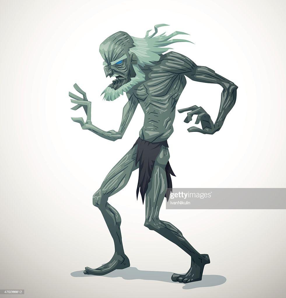 White Old Zombie