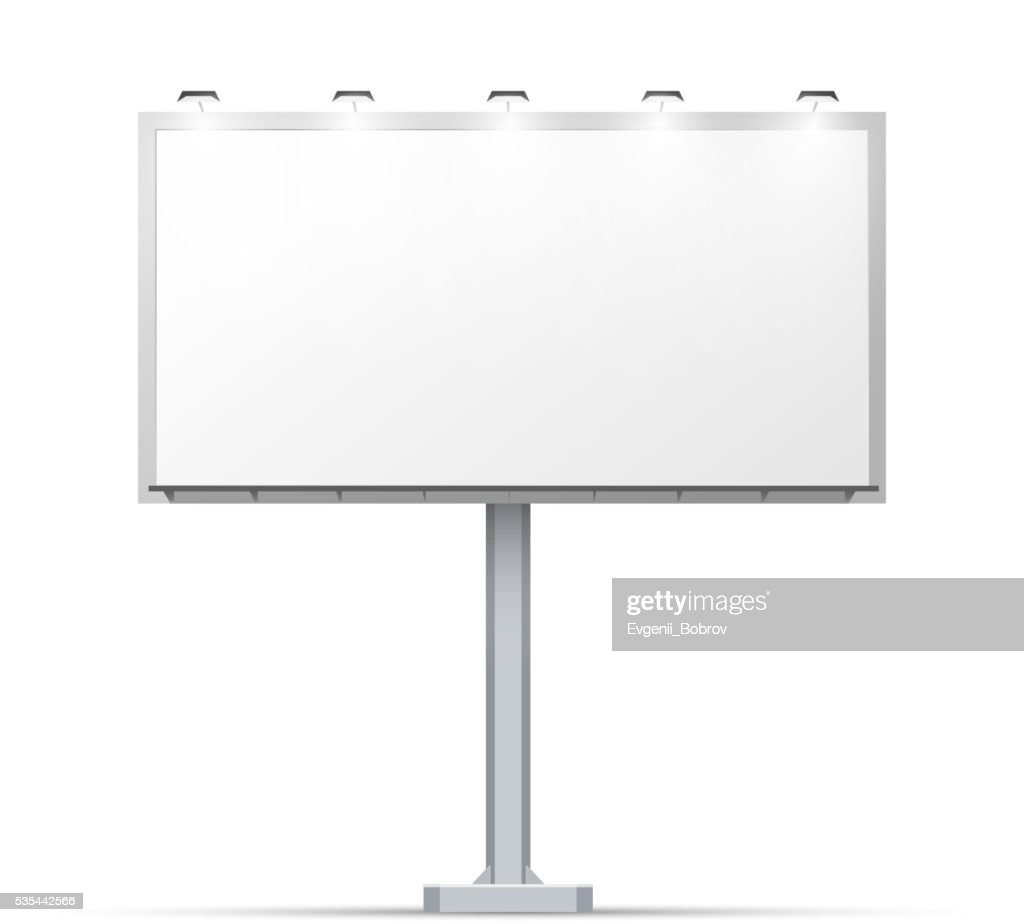 White outdoor billboard with place for advertising