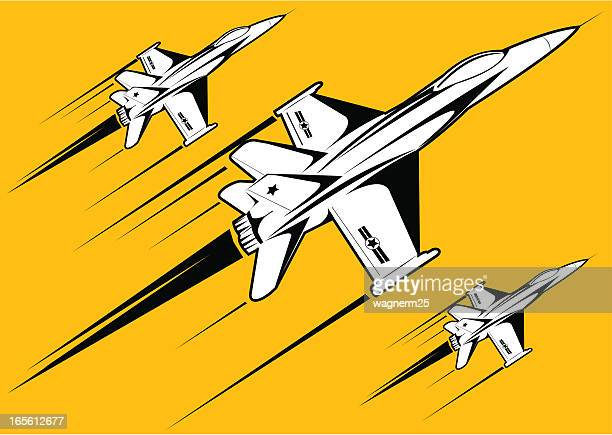 f18 white over yellow background - fa 18 hornet stock illustrations