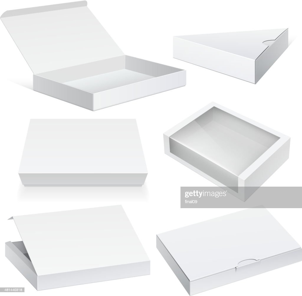 White Package Cardboard Box set