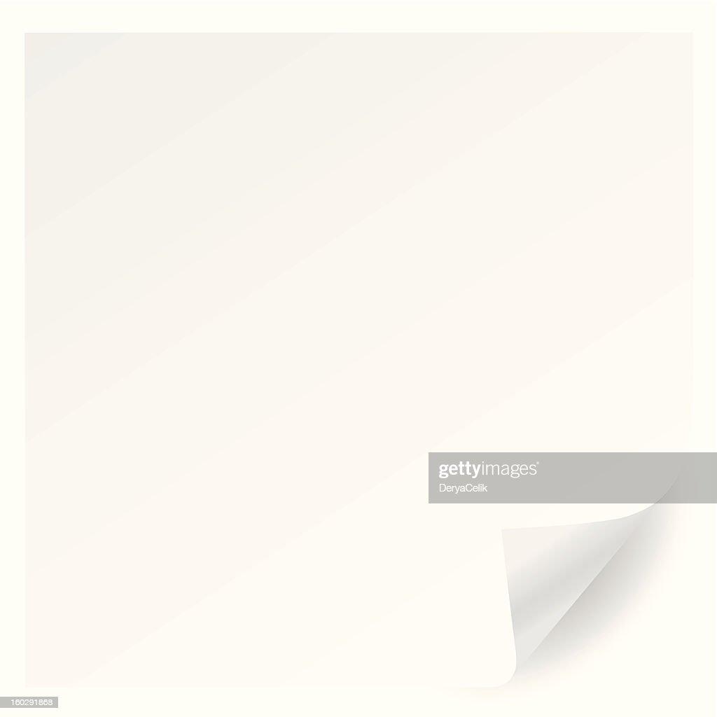 white page corner curl vector