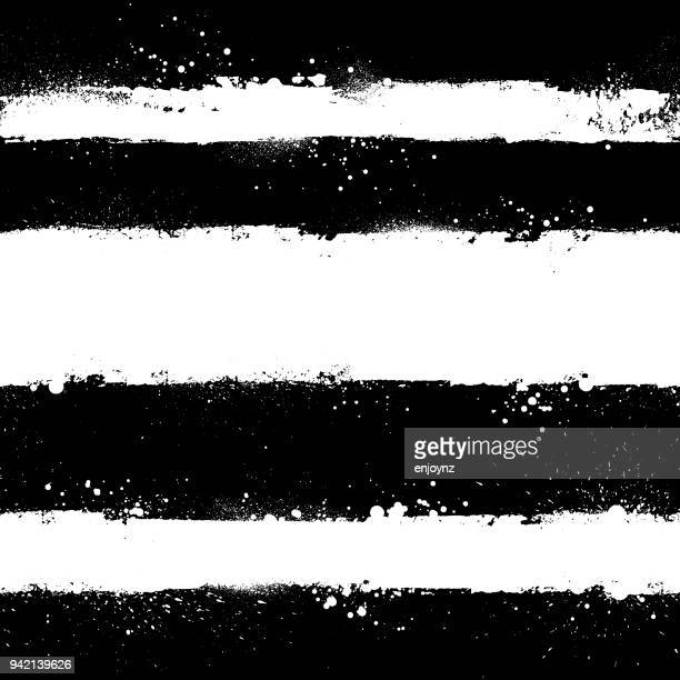 illustrazioni stock, clip art, cartoni animati e icone di tendenza di white paint strokes - black and white
