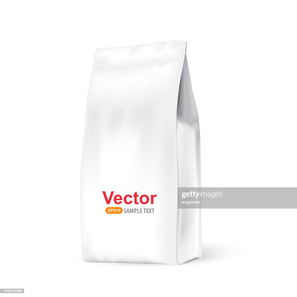 White paper bag for bulk products, tea, coffee