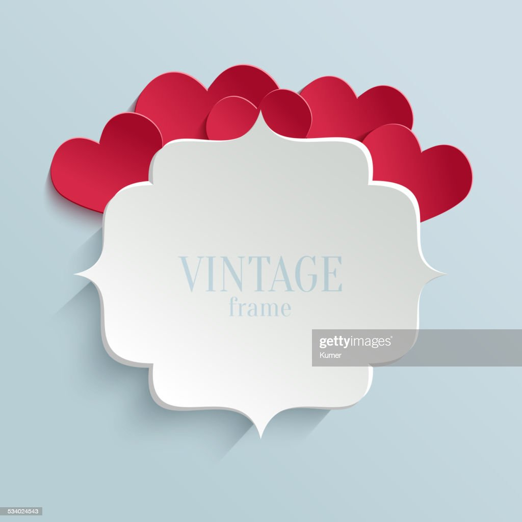 White paper banner in vintage or retro style