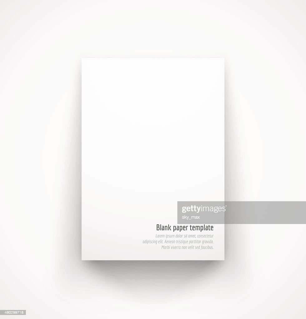 White paper template mock-up with drop shadow