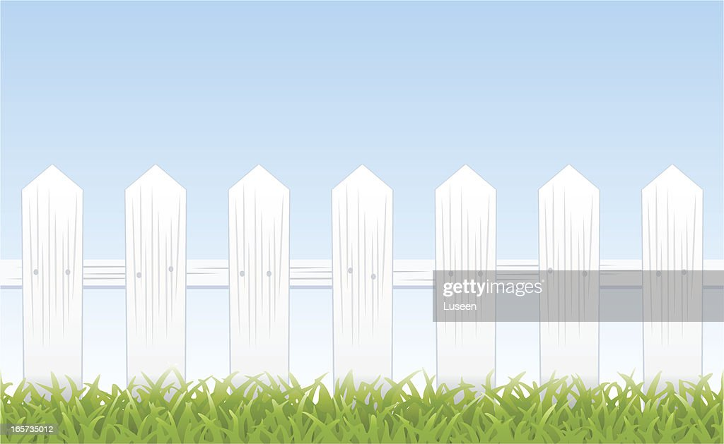 White picket fence (tiles seamlessly)