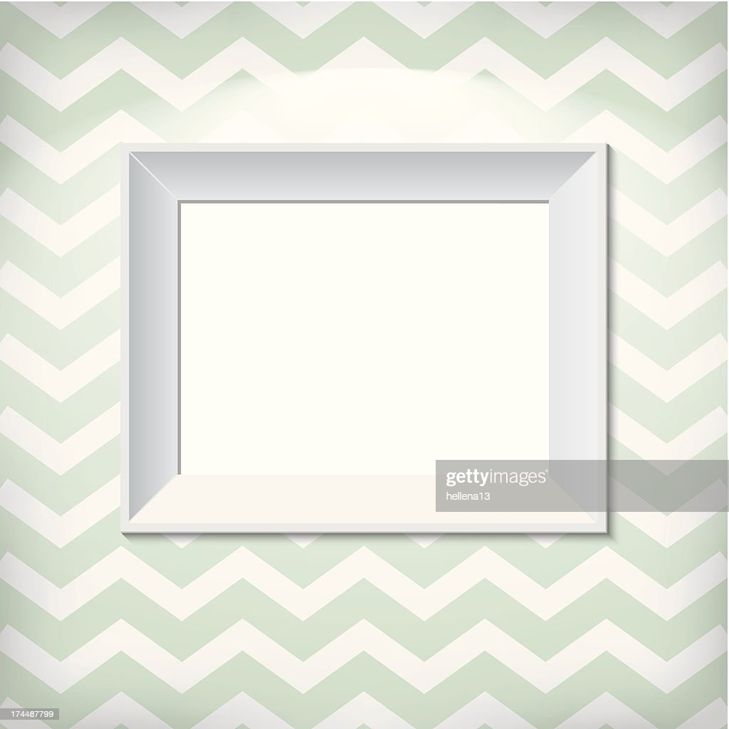White picture frame on the wall