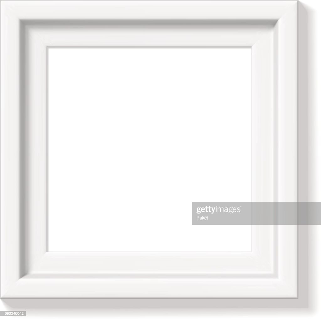 Weißer Bilderrahmen Vektorgrafik | Getty Images