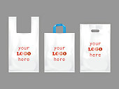 White plastic shopping bags