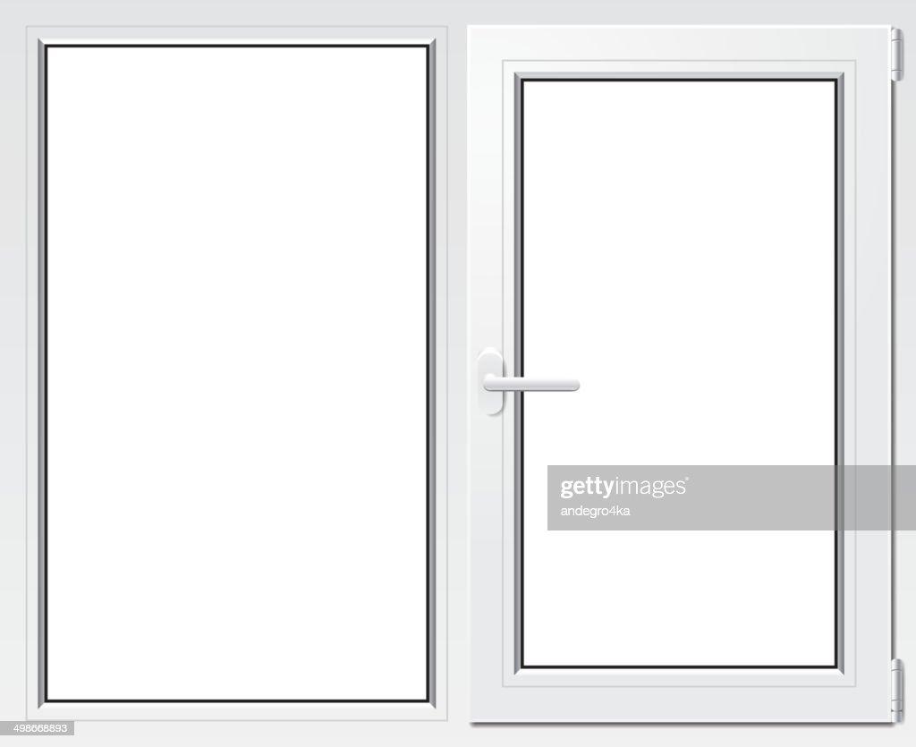 White plastic window vector illustration