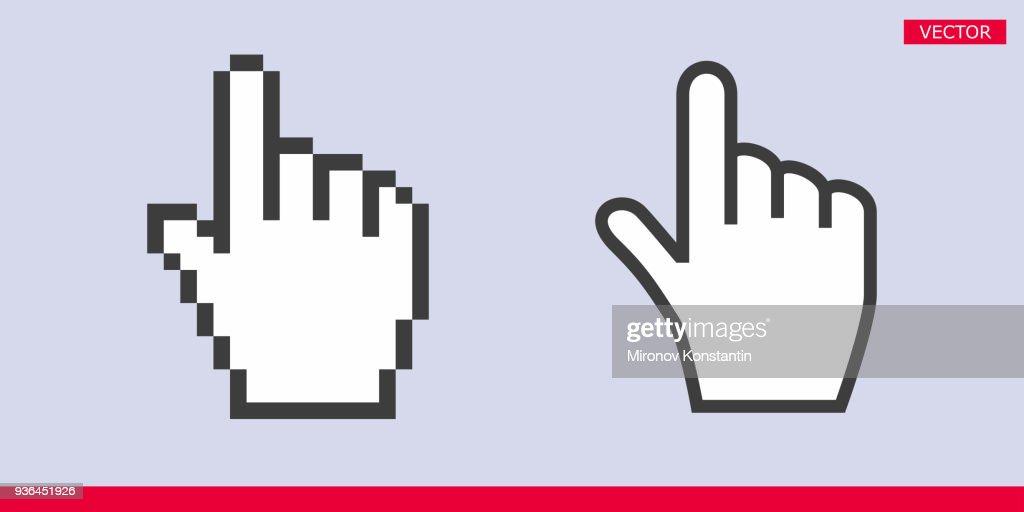 White Pointer Index Finger Pixel And No Pixel Modern Hand