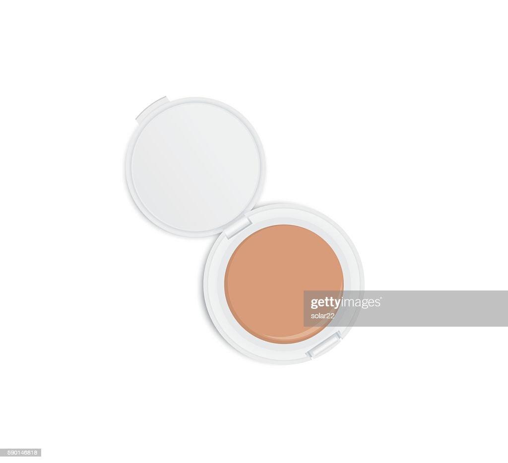 White powder case opened