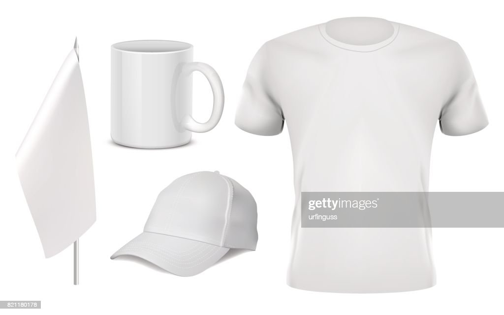 white Promotional items set