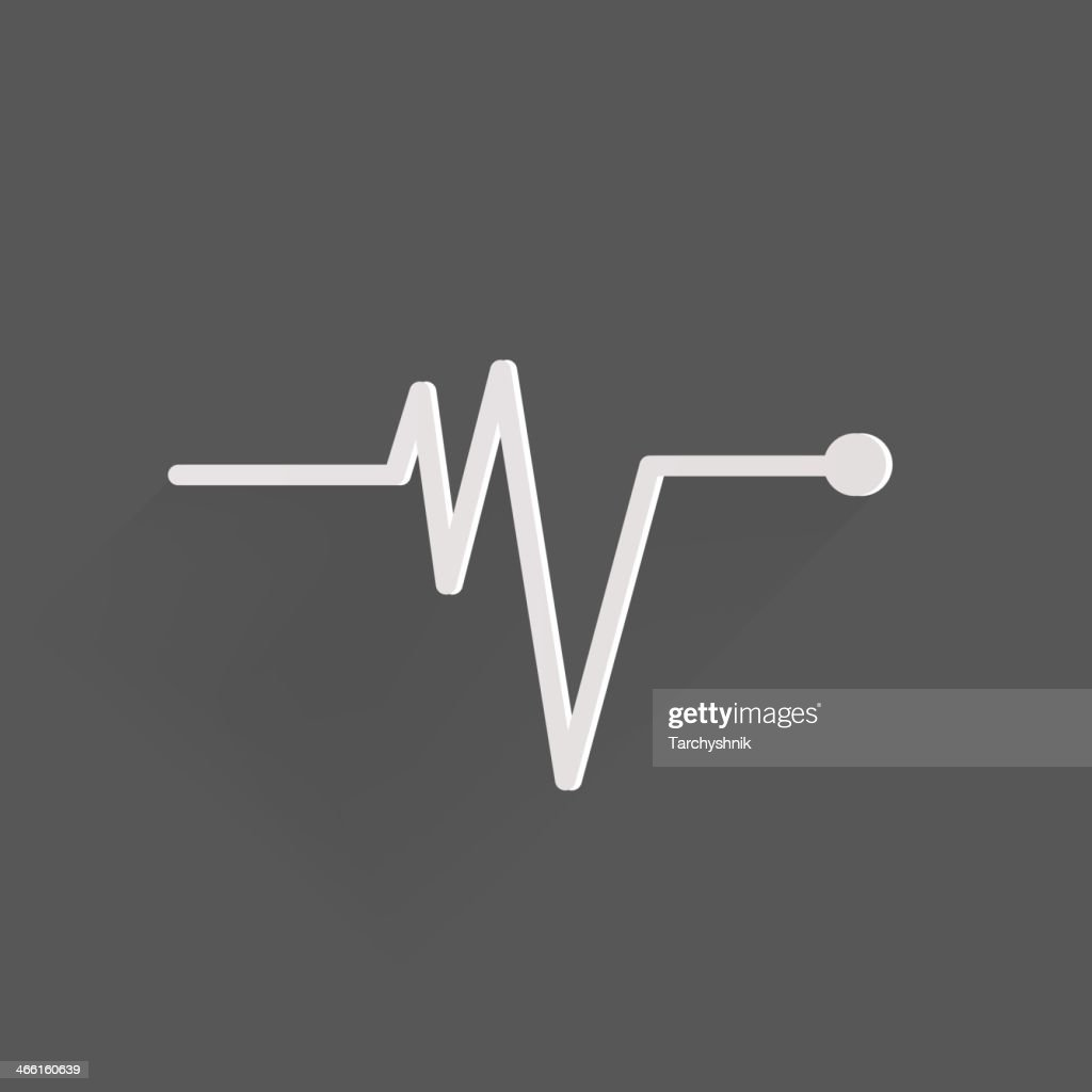 White pulse icon depicting heart beat