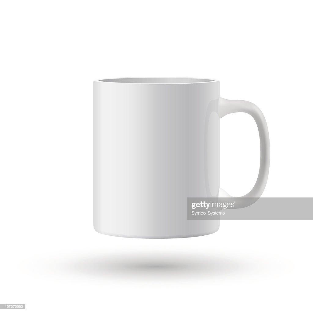 White realistic classic mug