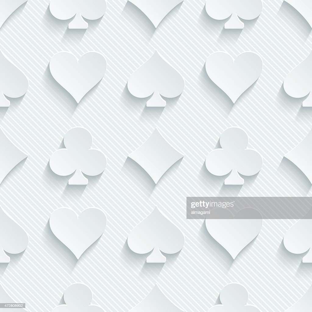 White seamless 3D wallpaper pattern