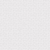 White Seamless Pattern in Oriental style