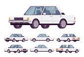 White sedan set