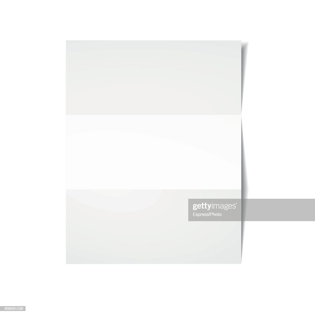 White sheet of paper.
