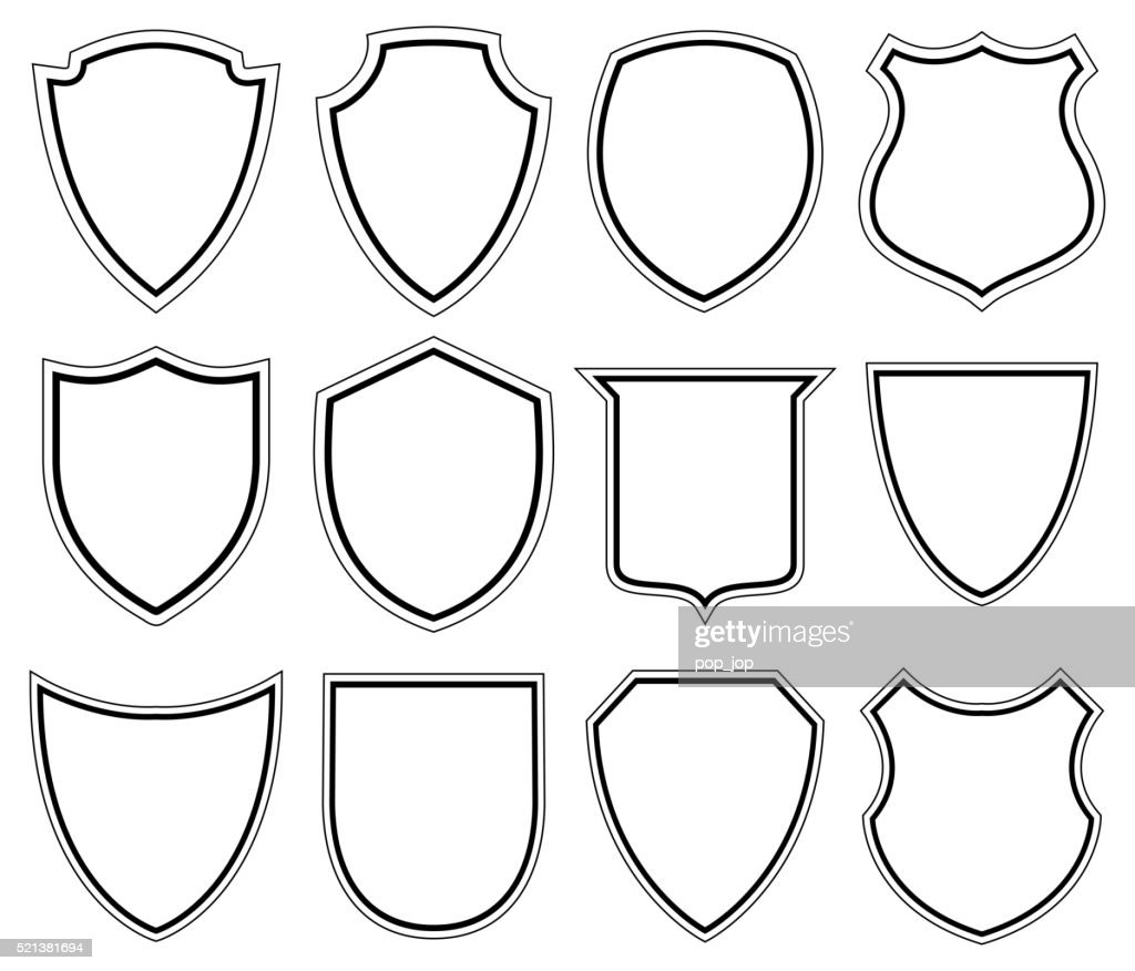 White Shield icons - Illustration