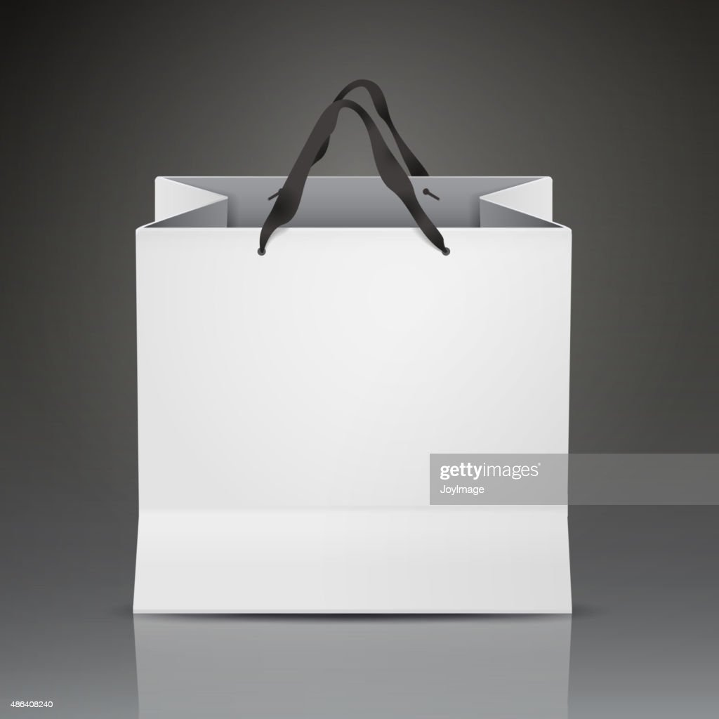 white shopping bag template