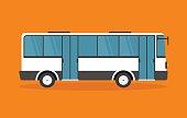White Shuttle Bus - Illustration