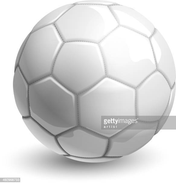 white soccer ball - sports ball stock illustrations