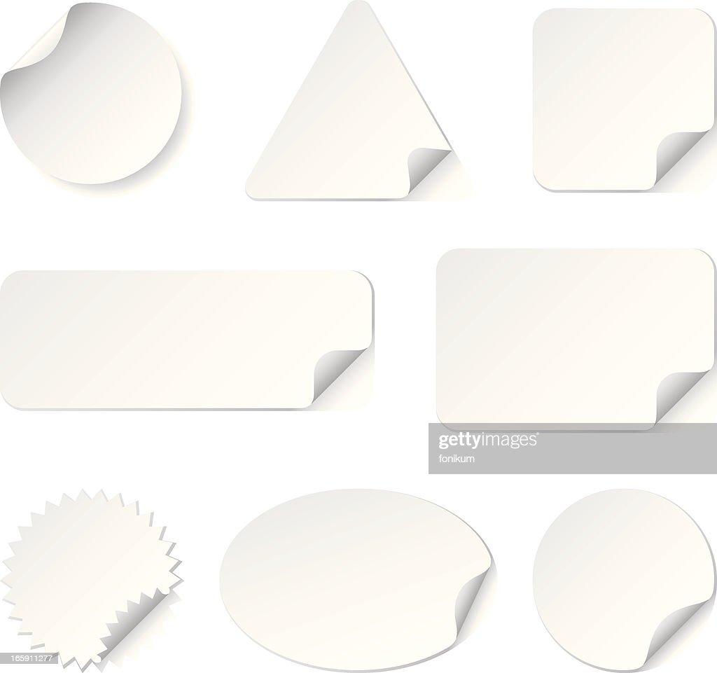 White Stickers(Vector)