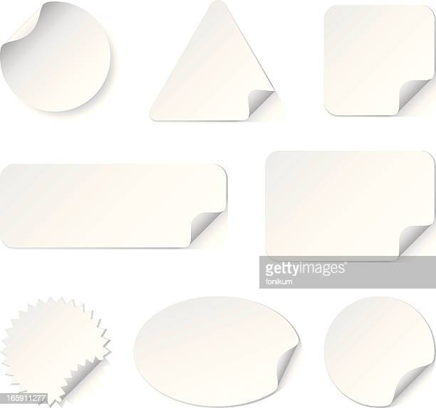 White Stickers(Vector)