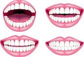 White teeth and lips